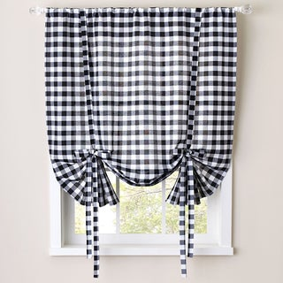 Buffalo Check Decorative Tie-Up Shade