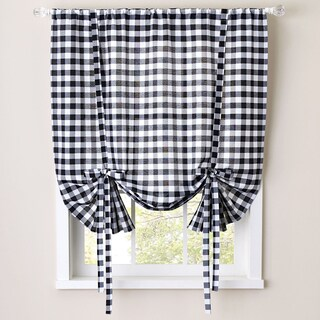 Buffalo Check Decorative Tie-Up Shade - 42 x 63 (More options available)