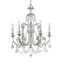 Crystorama Regis Collection 6-light Olde Silver/Swarovski Elements Strass Crystal Chandelier