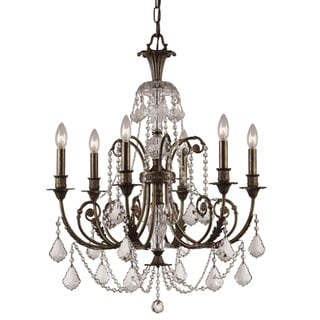 Crystorama Regis Collection 6-light English Bronze/Swarovski Spectra Crystal Chandelier