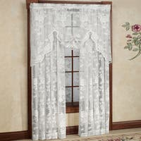 Rose Floral Pattern High Gauge Lace Window Curtain Panel