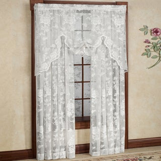 Rose Floral Pattern High Gauge Lace Window Curtain Panel (3 options available)