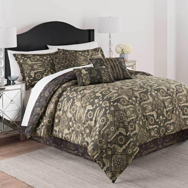 Martex Shiraz 7 Piece Comforter Set - Brown
