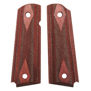 Hogue Colt & 1911 Government Grips Rosewood Laminate Checkered