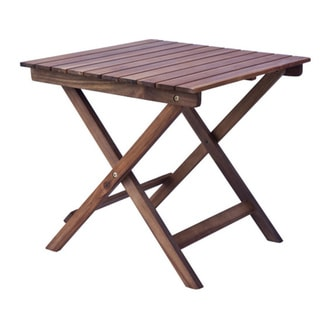Outdoor wooden side table