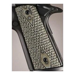 Hogue Colt & 1911 Government S&A Mag Well Grips Piranha G-10 G-Mascus Green