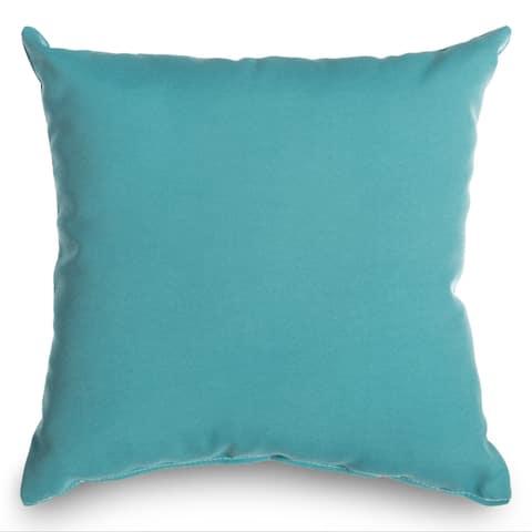 Castaway Aqua Outdoor Throw Pillow