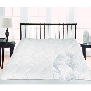 St. James Home Twice as Nice 300 Thread Count Reversible Mattress Pad - White