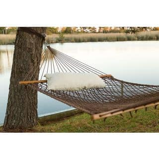 Castaway Antique Brown Polyester Rope Hammock with Pillow|https://ak1.ostkcdn.com/images/products/14397720/P20968168.jpg?impolicy=medium