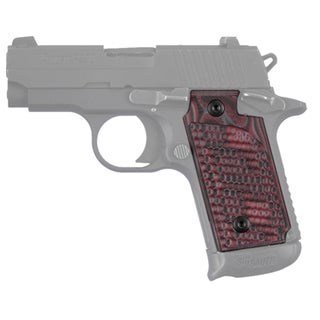 Hogue Sig P238 Grips Pirahna G-10 G-Mascus Red Lava