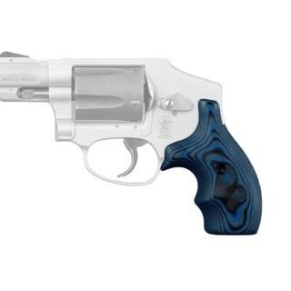 Hogue S&W J Frame Round Butt Grip Bantam G-10 G-Mascus Blue Lava