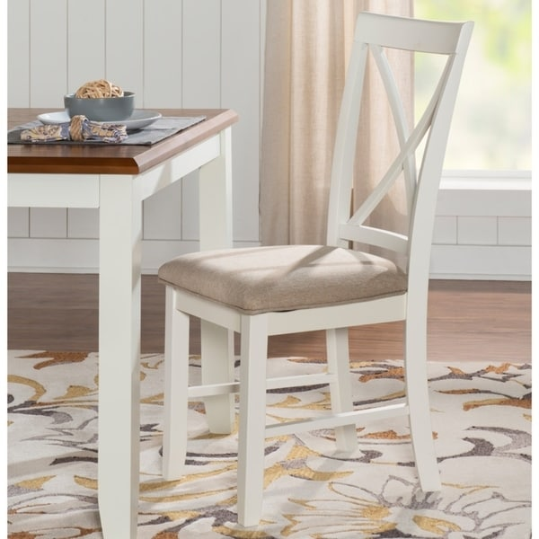 Jane White Cushioned Dining Chair (Set of 2). Opens flyout.