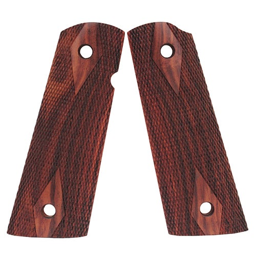 Hogue Colt & 1911 Government S&A Mag Well Grips Coco Bolo Checkered