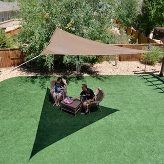 Sol Armor 12 ft. Triangle Shade Sail (Option: Brown/Black/Multi)