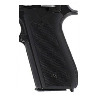 Hogue Taurus PT99+ Grips w/Decocker Checkered G-10 Solid Black