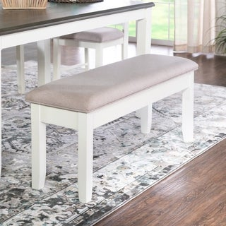 Jane White Cushioned Storage Bench