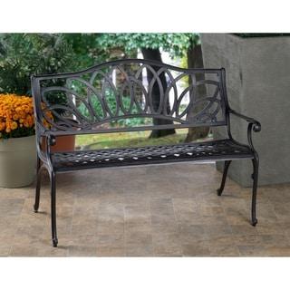 Daffodil Blacksmith Finish Cast Aluminum Outdoor Bench