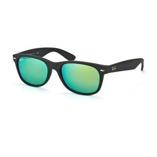 Ray Ban Unisex New Wayfarer Black Rubber/Plastic Sunglasses