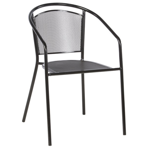 Bon Martini Cafe Black Wrought Iron Stackable Dining Chairs (Set Of 4)