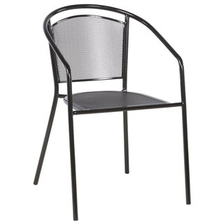 Martini Cafe Black Wrought Iron Stackable Dining Chairs (Set of 4)
