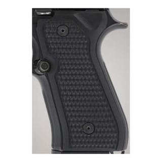 Hogue Beretta 92 Grips Piranha G-10 Solid Black