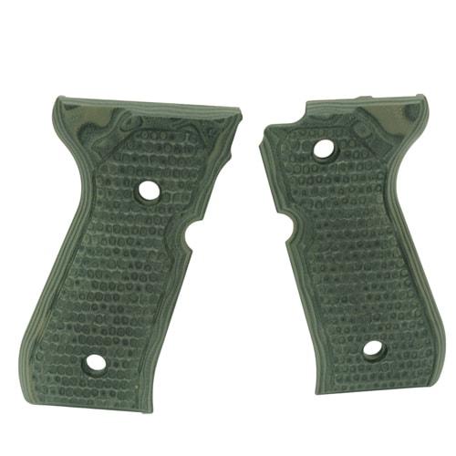 Hogue Beretta 92 Grips Piranha G-10 G-Mascus Green