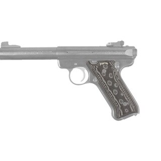 Hogue Ruger Mark II/Mark III Grip Checkered G-10 G-Mascus Black/Gray