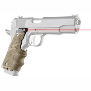 Hogue LE Government Rubber Laser Grip w/Finger Grooves Flat Dark Earth