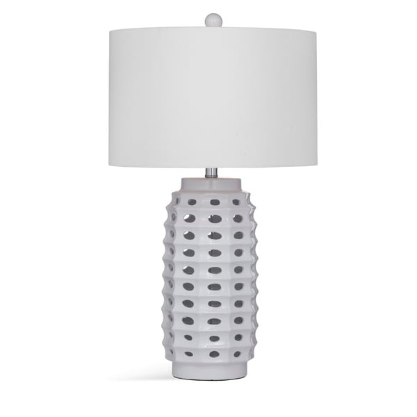 Elmore 29-inch White Ceramic Table Lamp