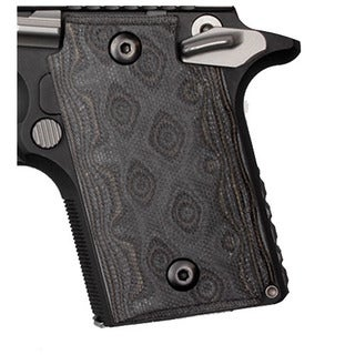 Hogue Sig P938 Ambidextrous Extreme Series Grip Ambidextrous, G10 G-Mascus Black/Gray