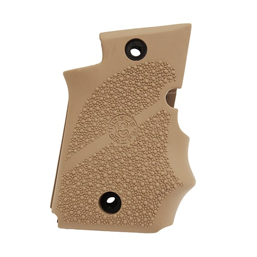 Hogue Sig P938 Rubber Grip Ambidextrous, w/Finger Grooves Flat Dark Earth Brown