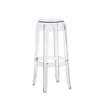 Ghost Clear Polycarbonate Stackable Backless Stool