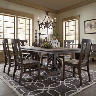 Rowyn Wood Extending Dining Table Set by iNSPIRE Q Artisan (4 options available)