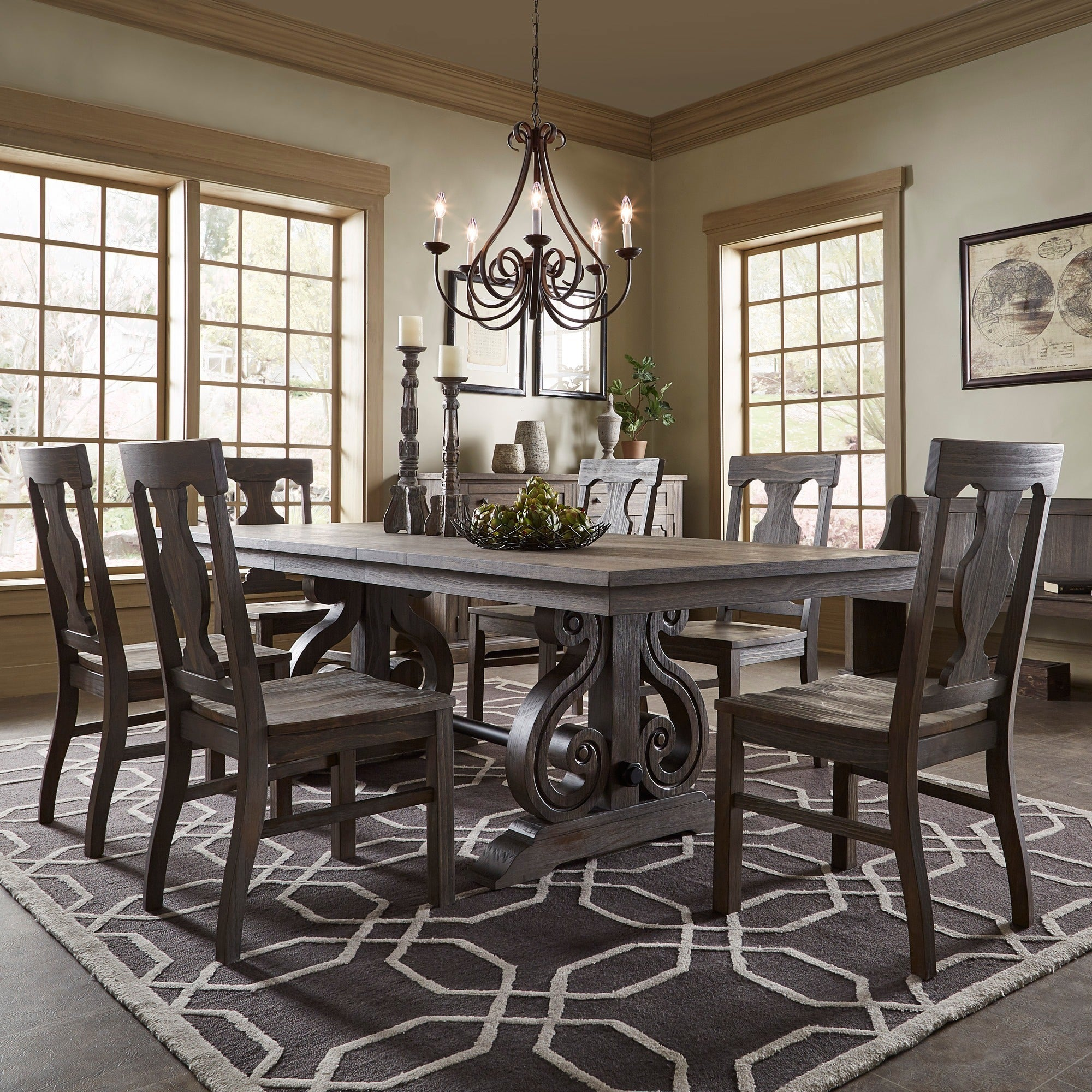 Rowyn Wood Extendable Dining Table Set By Inspire Q