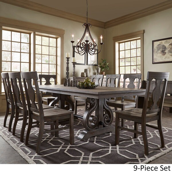 Rowyn Wood Extending Dining Table Set By INSPIRE Q Artisan   Free Shipping  Today   Overstock.com   20969457