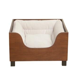 HomePop Decorative Wood Panel Pet Bed