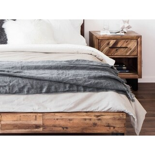 Aurelle Home European Soft Linen Throw Blanket