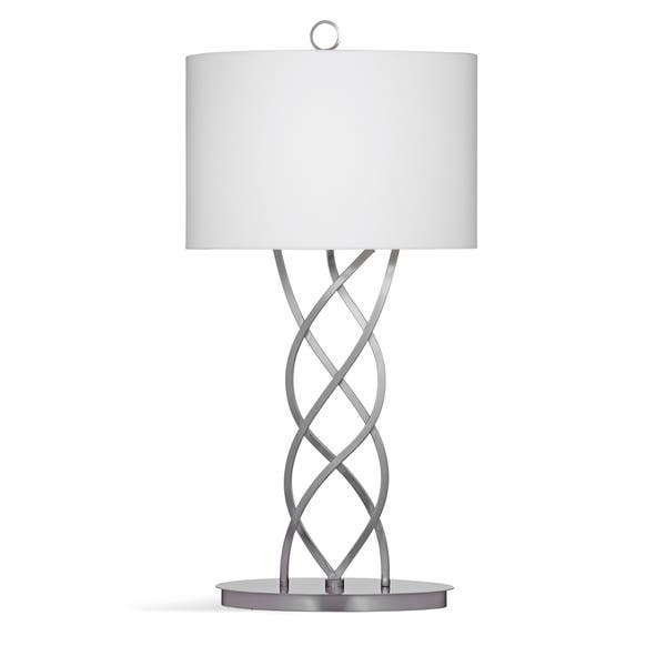 Bassett Mirror Company Melina Silver Marble 34 Inch Table Lamp Overstock 14399304