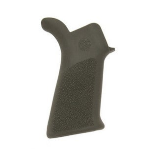 Hogue AR-15 Rubber Grip Beavertail No Finger Grooves Olive Drab Green