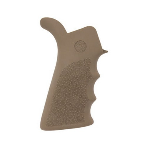 Hogue AR-15 Rubber Grip Beavertail w/Finger Grooves Flat Dark Earth