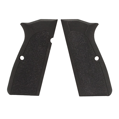 Hogue Browning Hi Power Grips Checkered G-10 Solid Black
