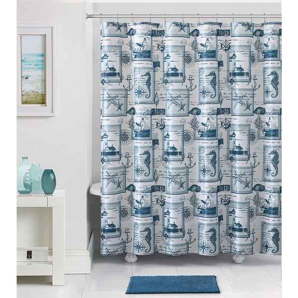 VCNY Home Nautical 14-piece Shower Curtain and Bath Set