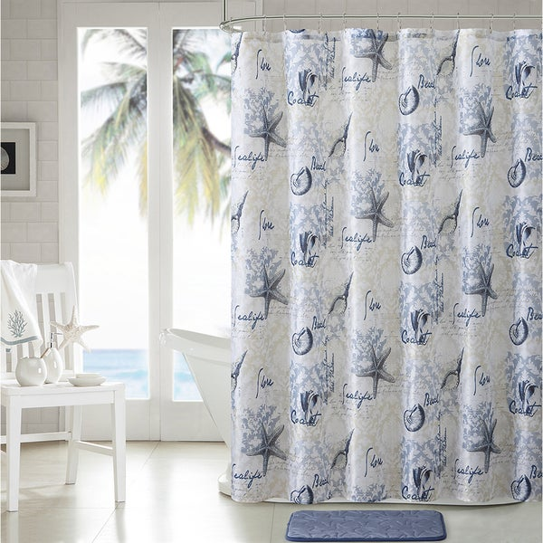 VCNY Home Shore Life 14-piece shower Curtain and Bath Set