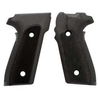 Hogue Sig P228/P229 Grips Checkered G-10 Solid Black