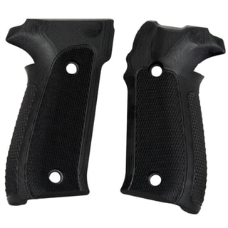 Hogue Sig P226 Grips Checkered G-10 Solid Black