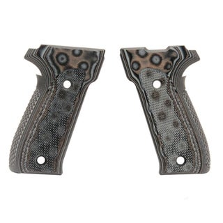 Hogue Sig P226 Grips DAK, Checkered G-10 G-Mascus Black/Gray