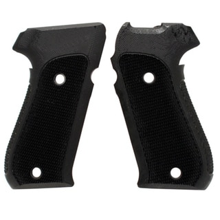 Hogue Sig P220 American Grips Checkered G-10 Solid Black