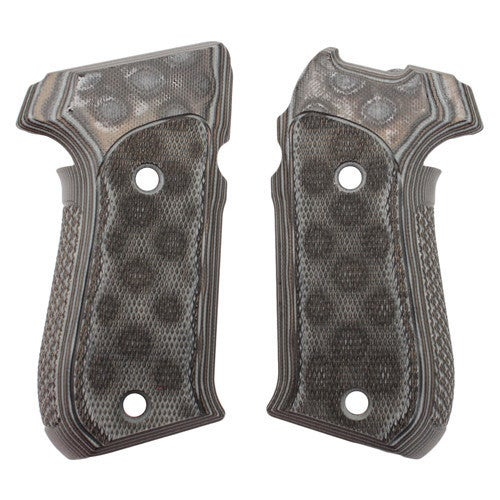 Hogue Sig P220 American Grips Checkered G-10 G-Mascus Black/Gray