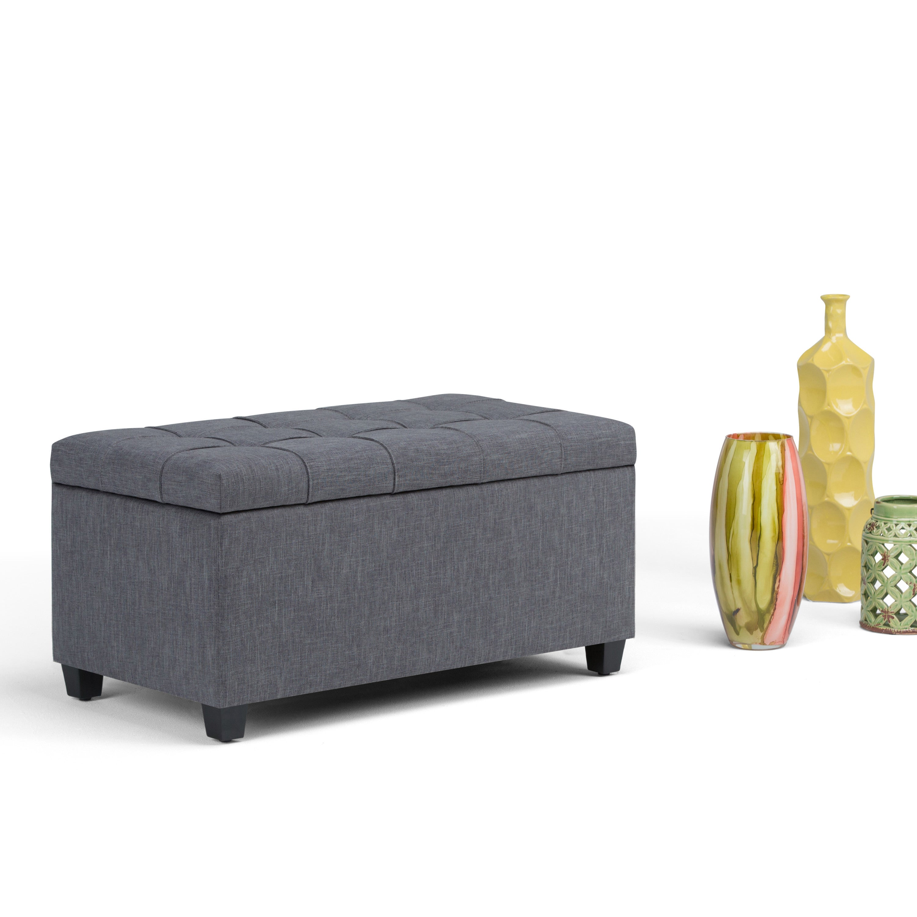 in ottoman finley bench midnight storage home products axcot black simpli br