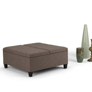 WYNDENHALL Tyler Coffee Table Storage Ottoman with Lift Top